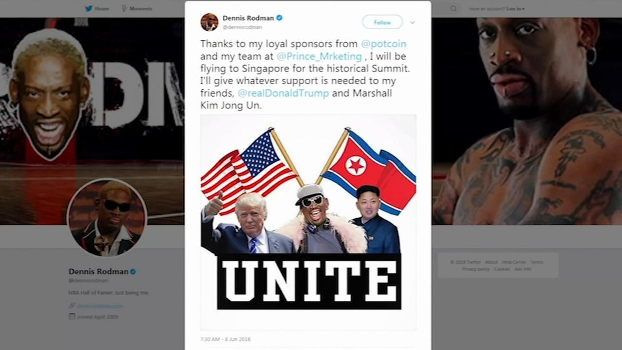Maybe a Dennis Rodman sighting at Trump-Kim Singapore talks?