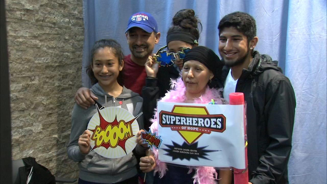 Superheroes gather for Cancer Survivors Day to spread hope