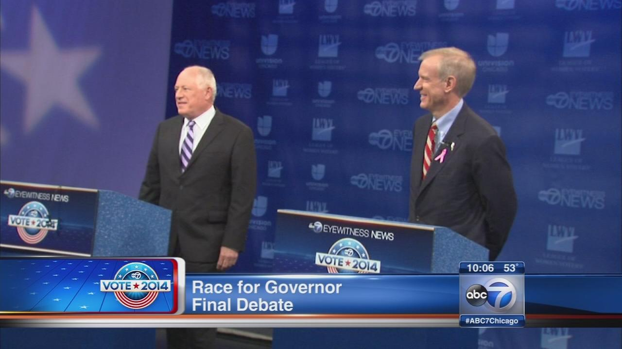 Quinn, Rauner square off in final debate