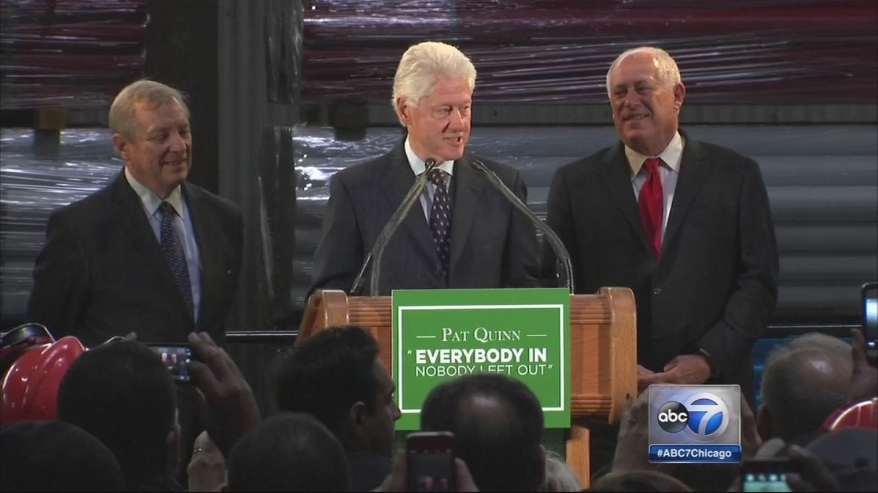 Clinton campaigns for Quinn