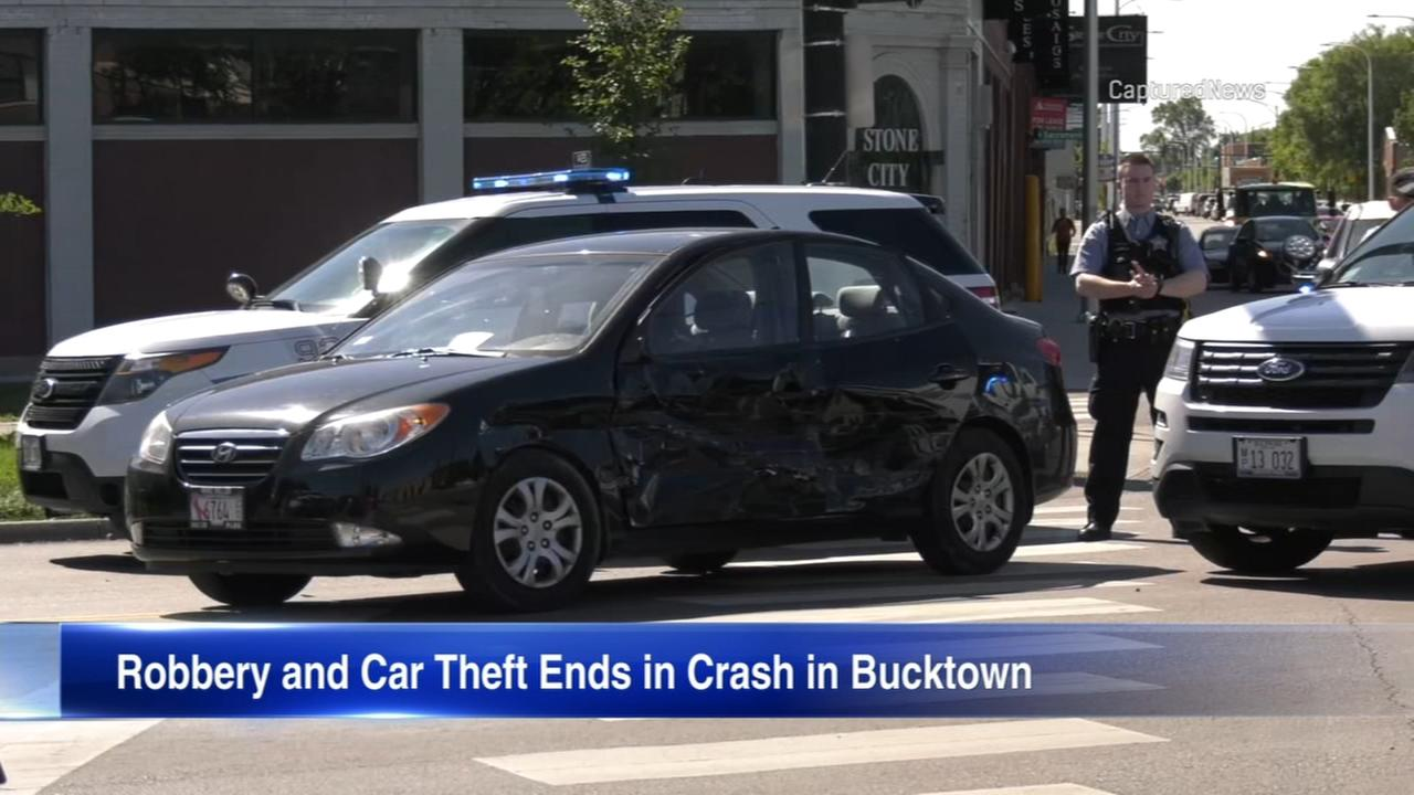 1 in custody after violent robbery, car theft, chase in Bucktown