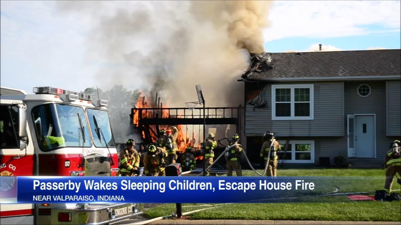 Children escape fire thanks to good Samaritan