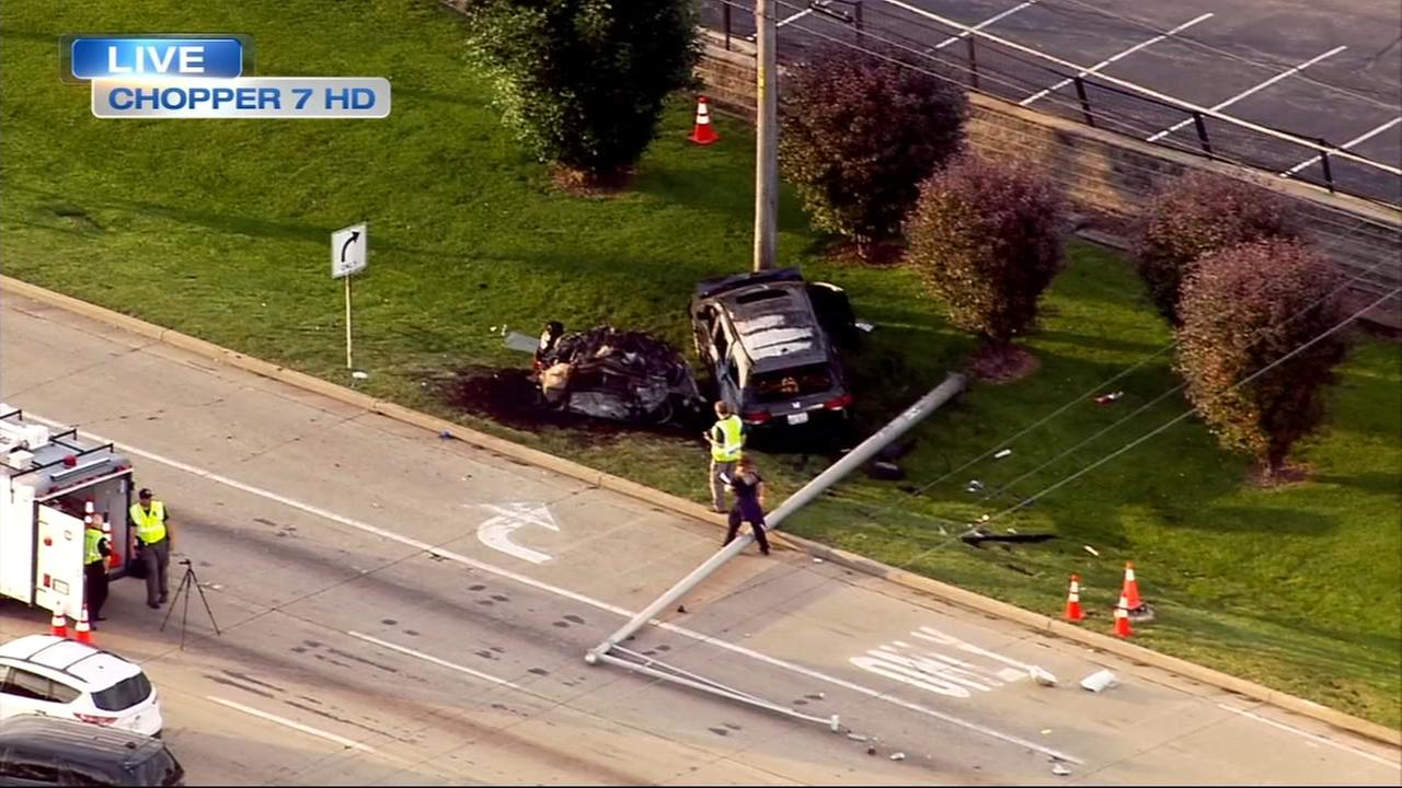 Fatal crash closes EB North Avenue in Glendale Heights