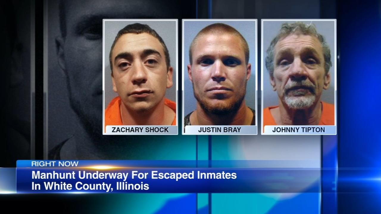 3 men sought after escape from southeastern Illinois jail