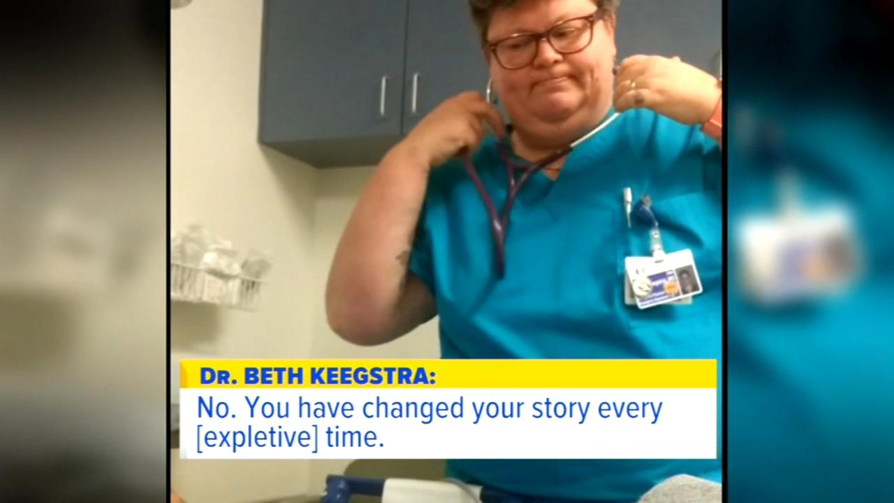 ER doctor caught mocking, cursing at patient suspended