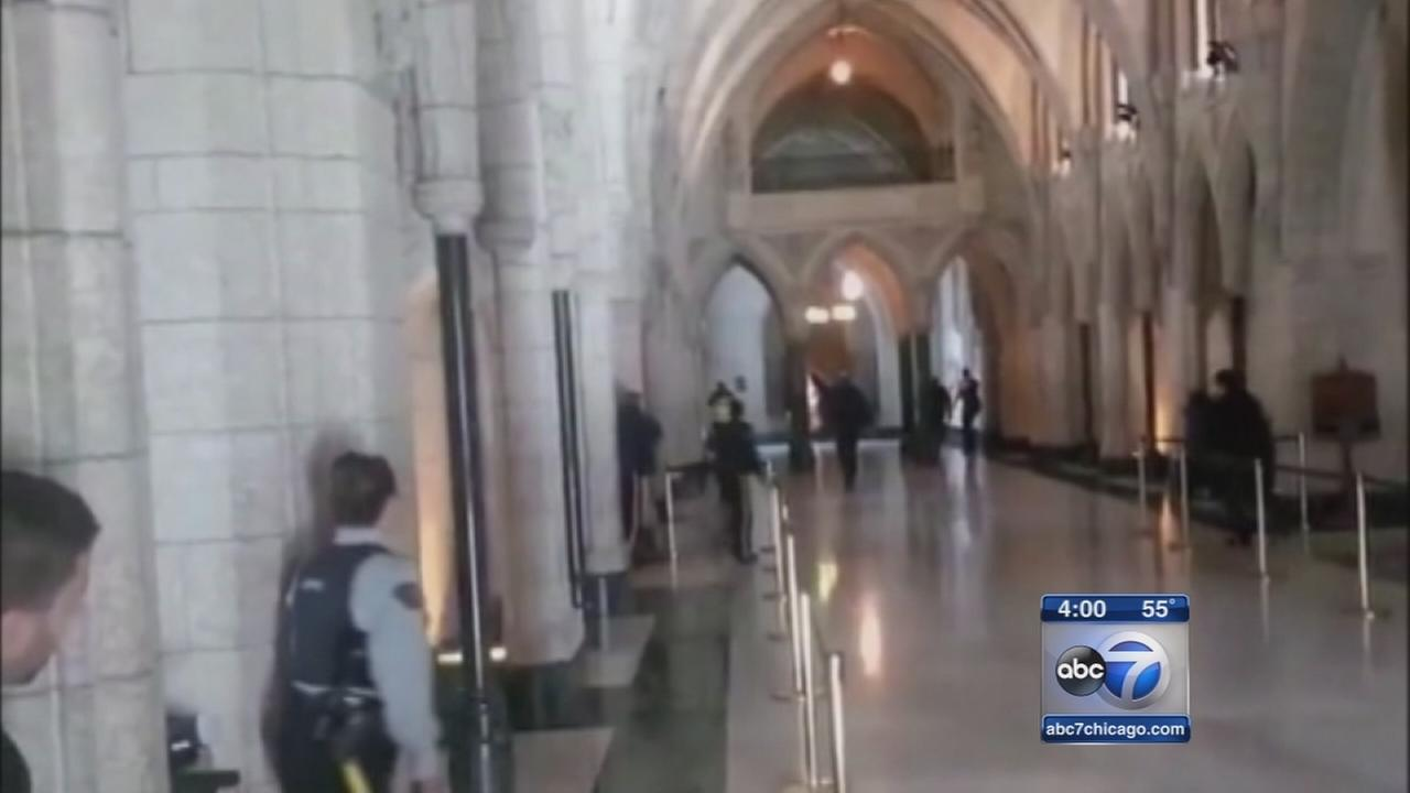 Soldier, gunman dead in Canadian Parliament shootings