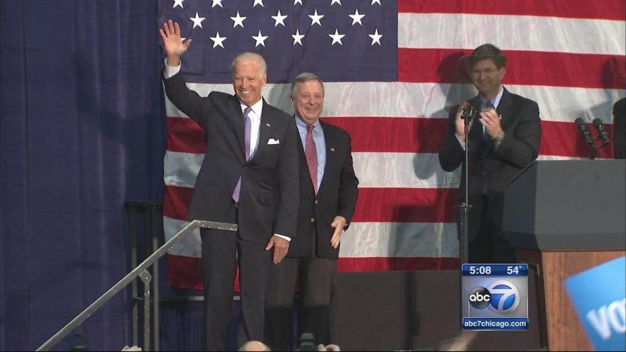 Vice President Joe Biden campaigns in Illinois