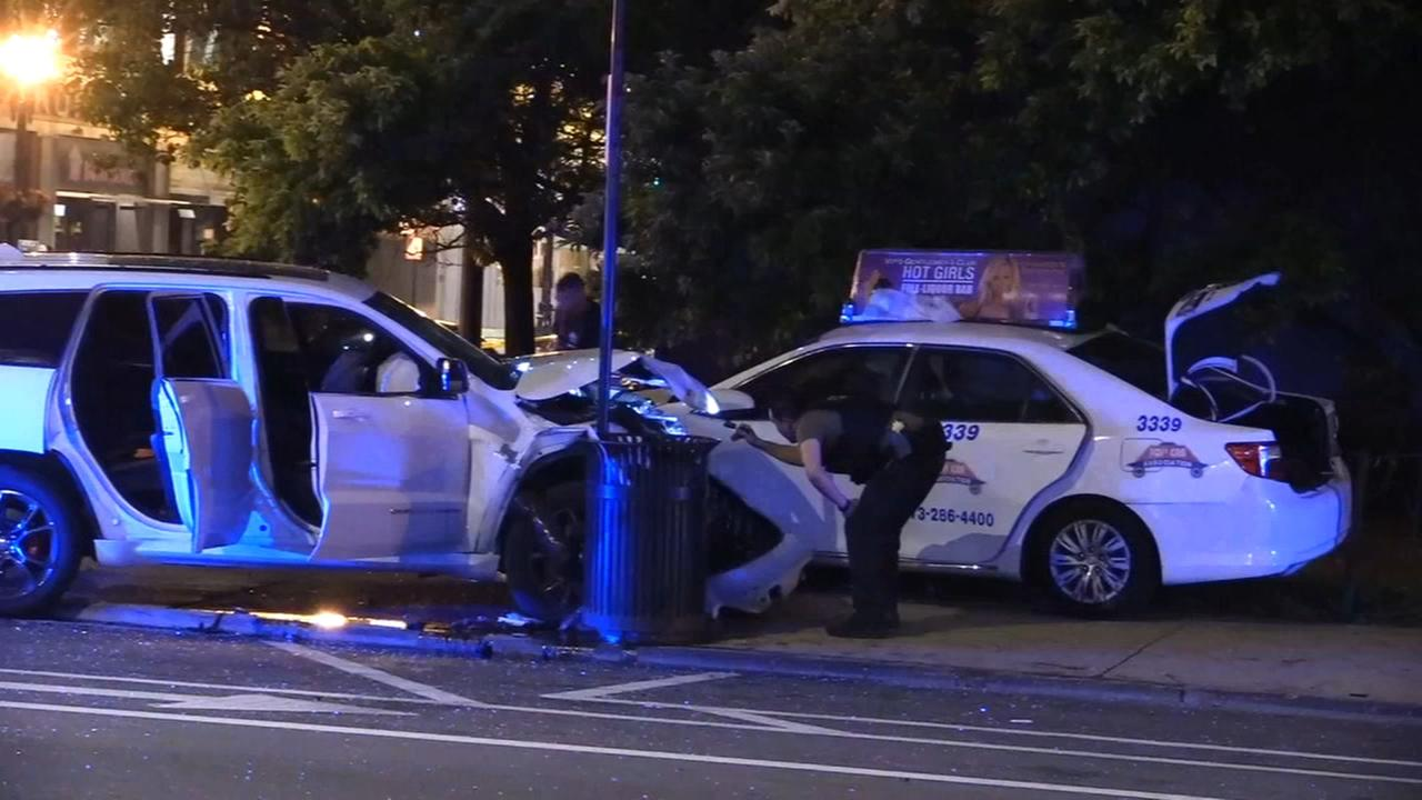 Woman killed when stolen vehicle flees cops, strikes taxi in River North