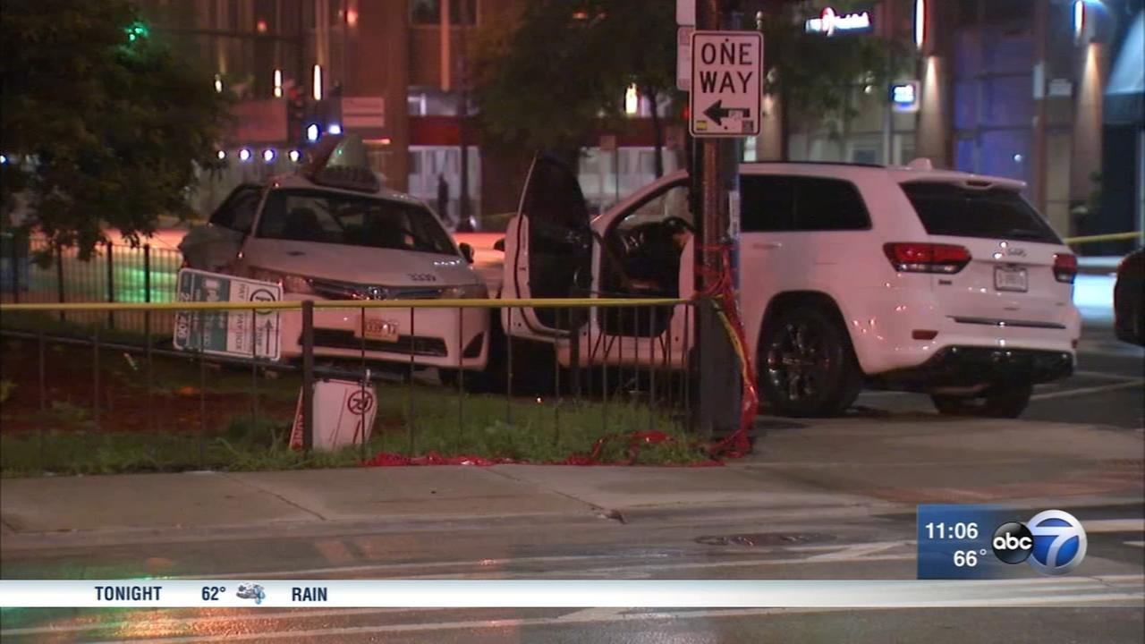 Taxi passenger killed in crash with stolen vehicle in River North