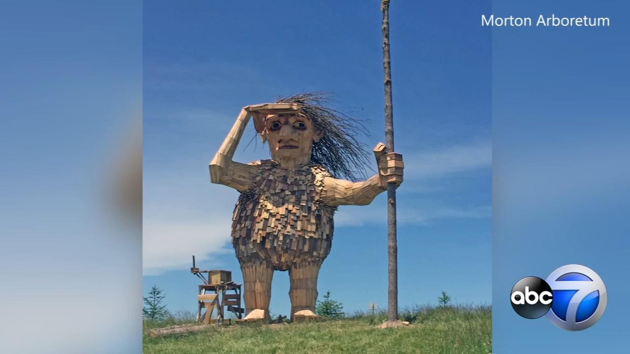 Giant trolls take over Morton Arboretum