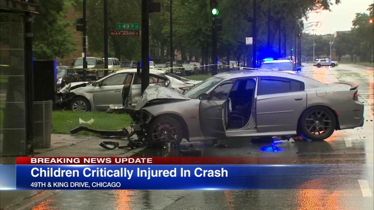 Police: 2 children critical after driver blows red light in Bronzeville