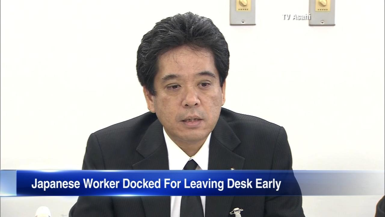 Japanese worker fired for repeatedly leaving desk early