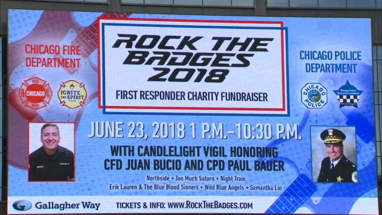 Rock the Badges event raises money for police officers, firefighters