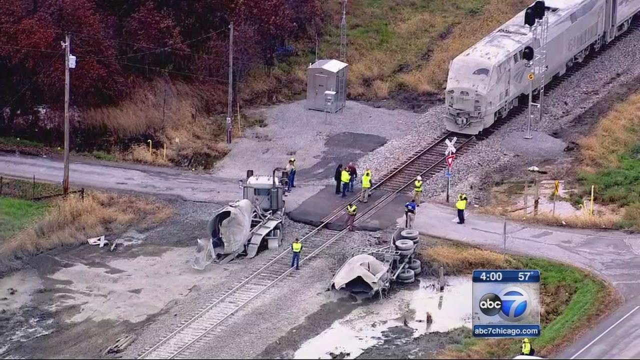 Chicago-bound Amtrak train collides with semi
