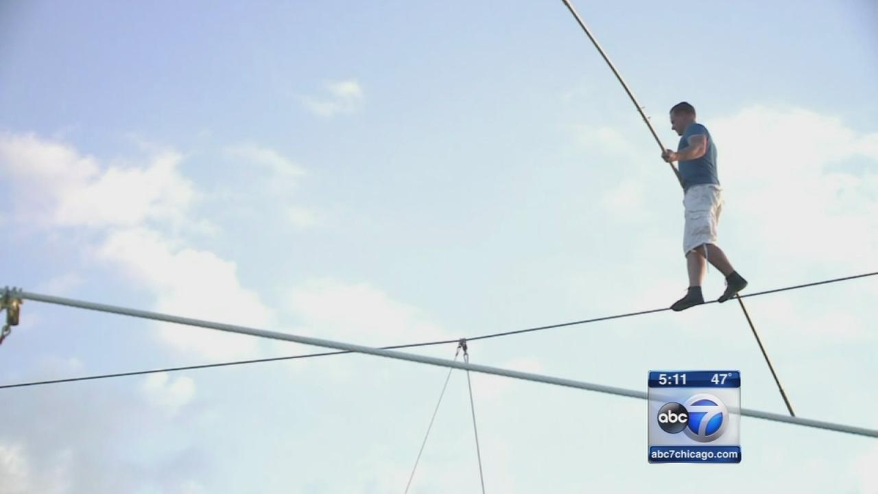 Preparations under way for Wallenda tightrope walk