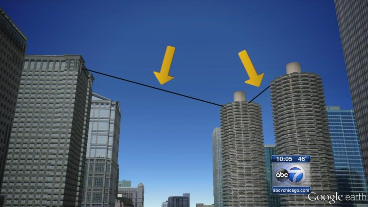 Nik Wallenda in Chicago for high-wire act