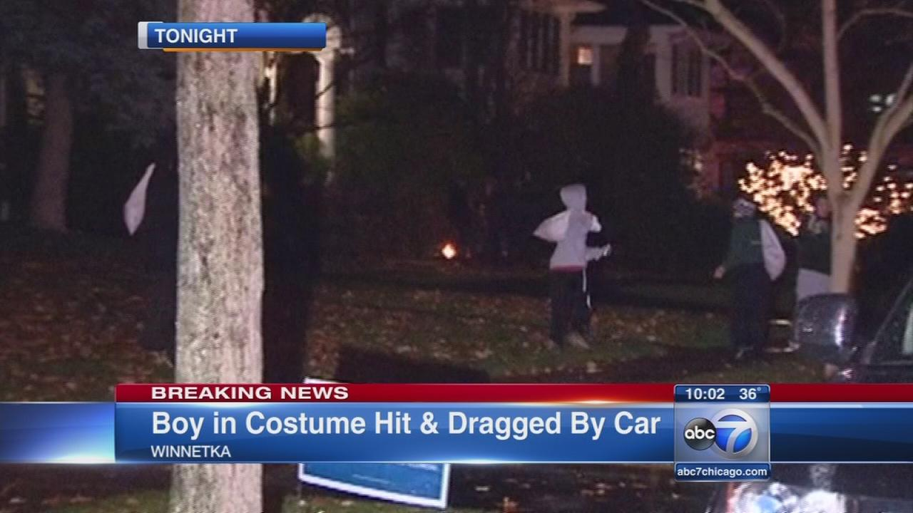 Boy, 4, struck by car while trick-or-treating