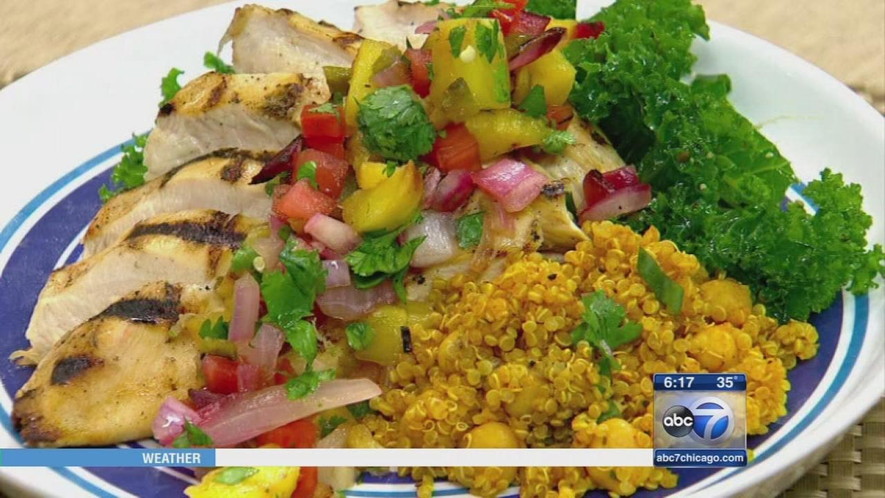 Lets Dish: Grilled pineapple salsa
