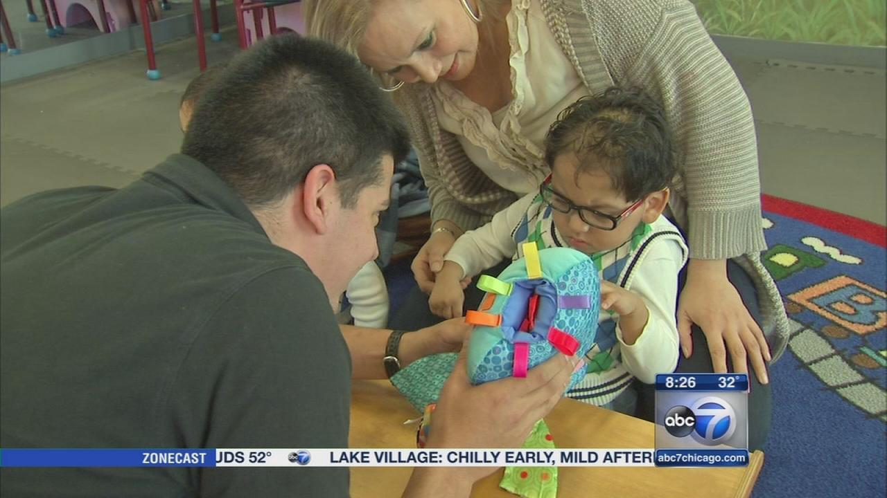 Play-based therapy used for children with disabilities