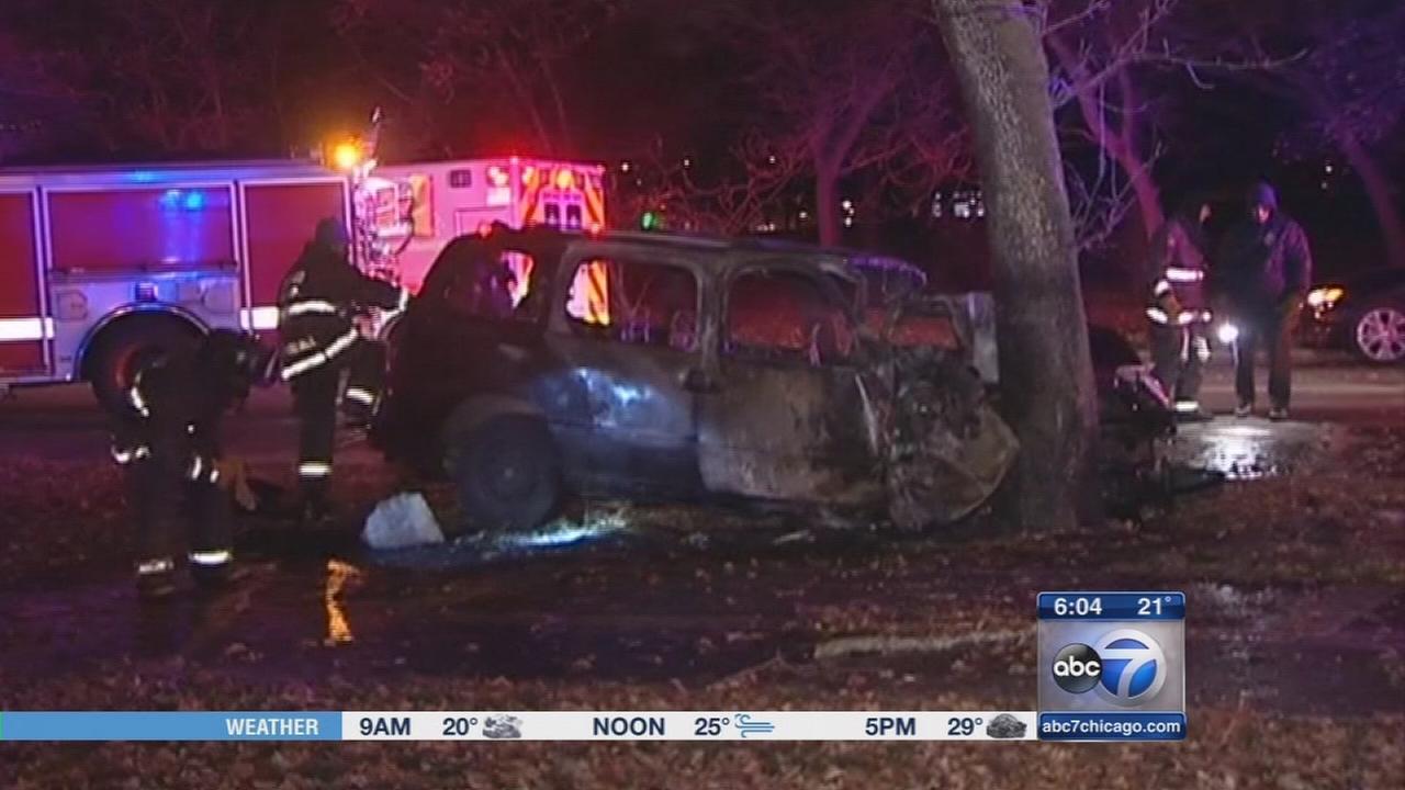 5 children, 2 adults hurt in Jackson Park crash