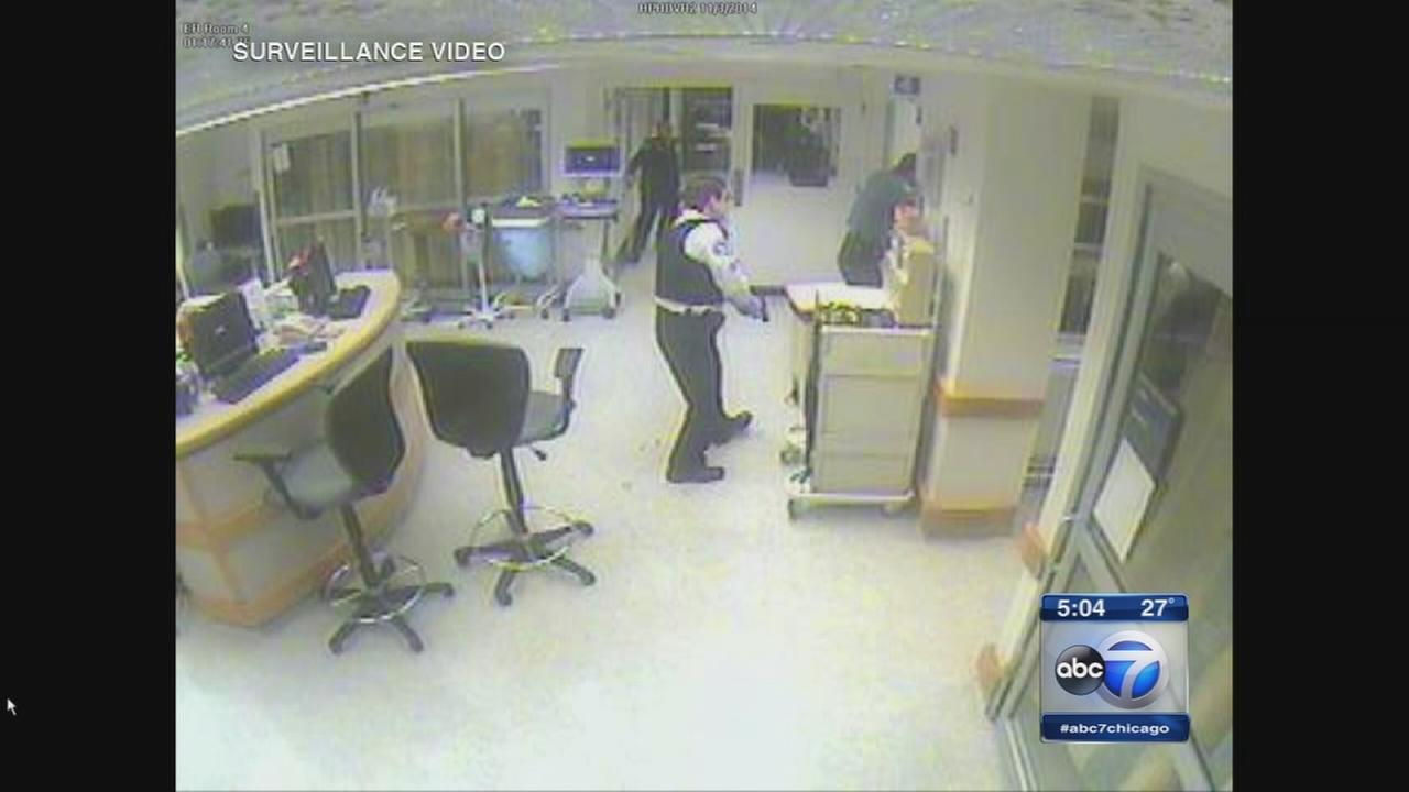 Hospital police shooting video released
