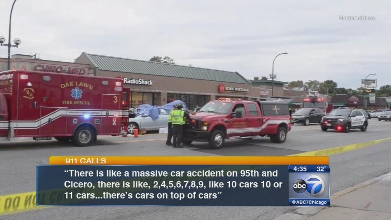 911 calls in Oak Lawn crash