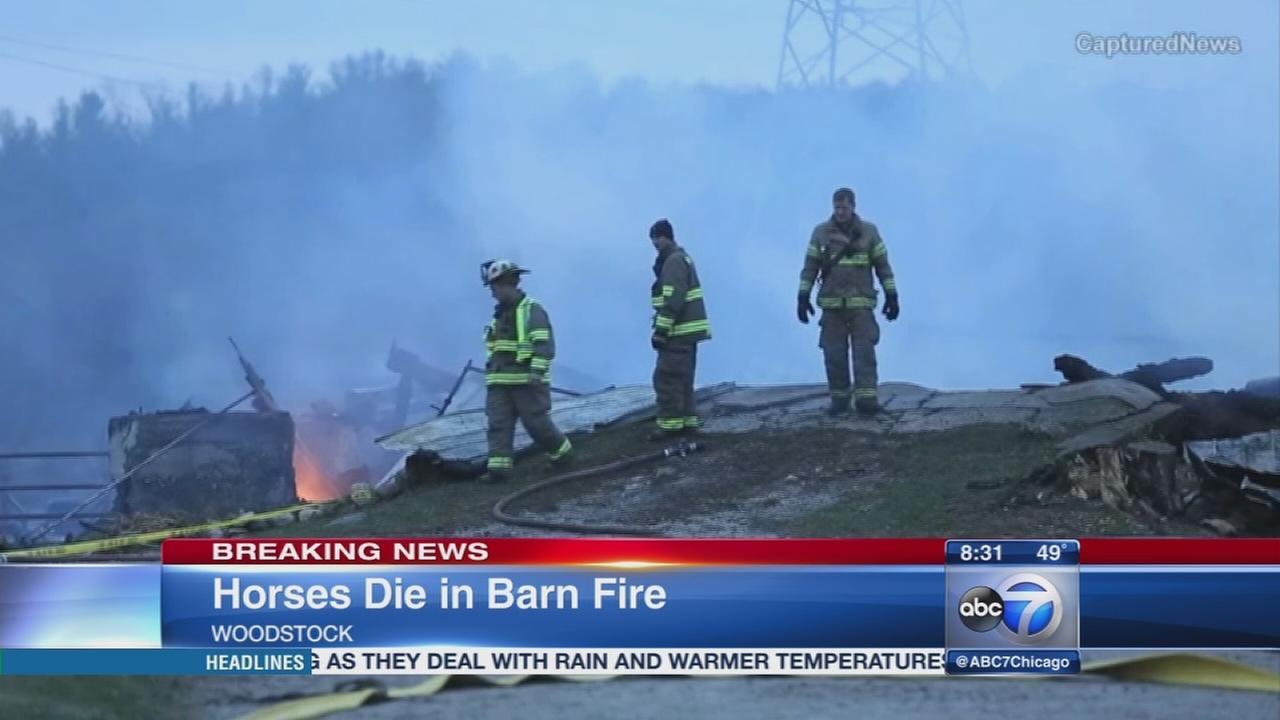 Woodstock barn fire may have killed 32 horses