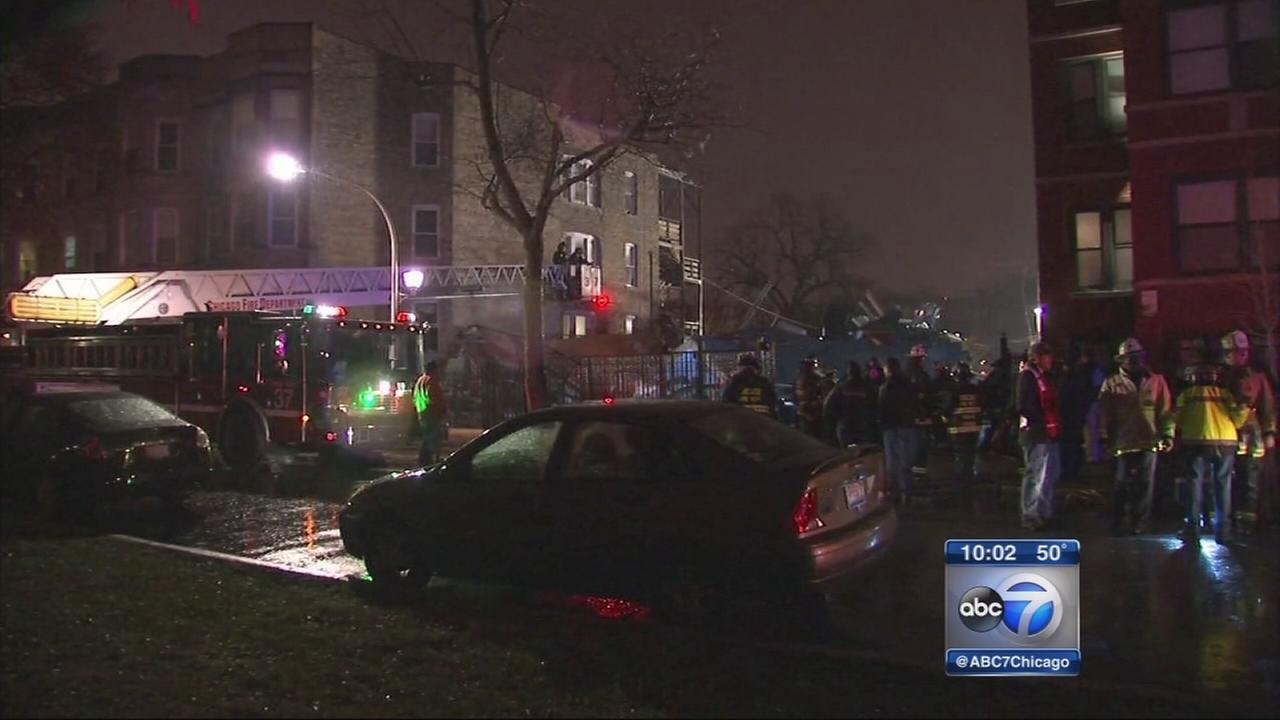 2 rescued after S. Side apartment building collapses