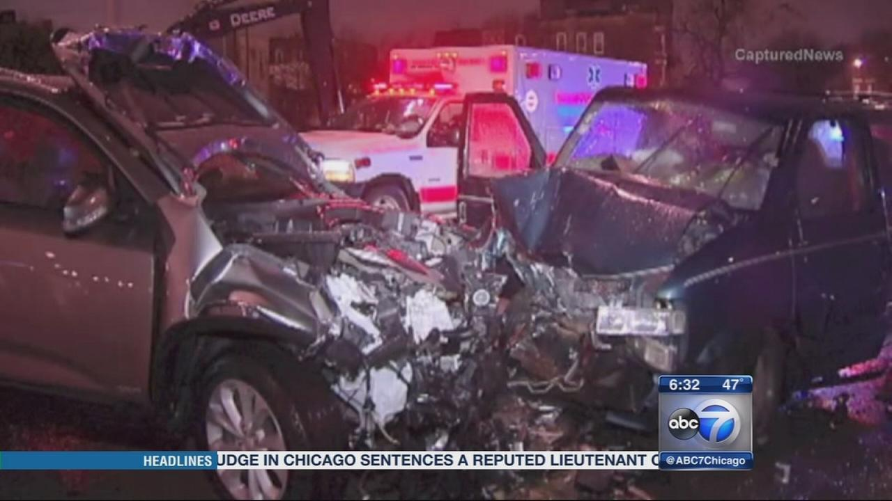 Wrong-way crash in Ohio Street ramp injures 3