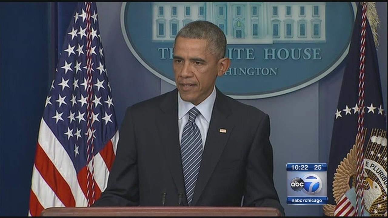 Obama urges calm after Ferguson grand jury decision