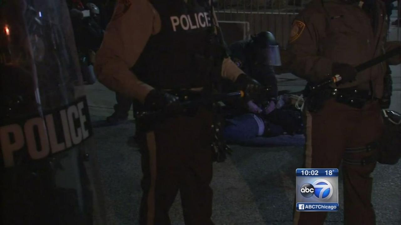 Ferguson protesters arrested