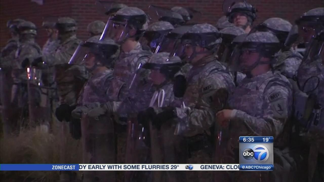 Ferguson Missouri riots subside after shooting decision