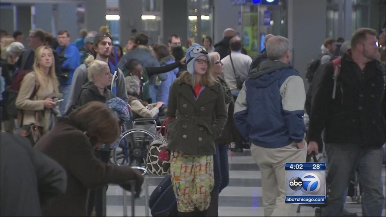 Nearly 2M holiday travelers to pass through OHare, Midway