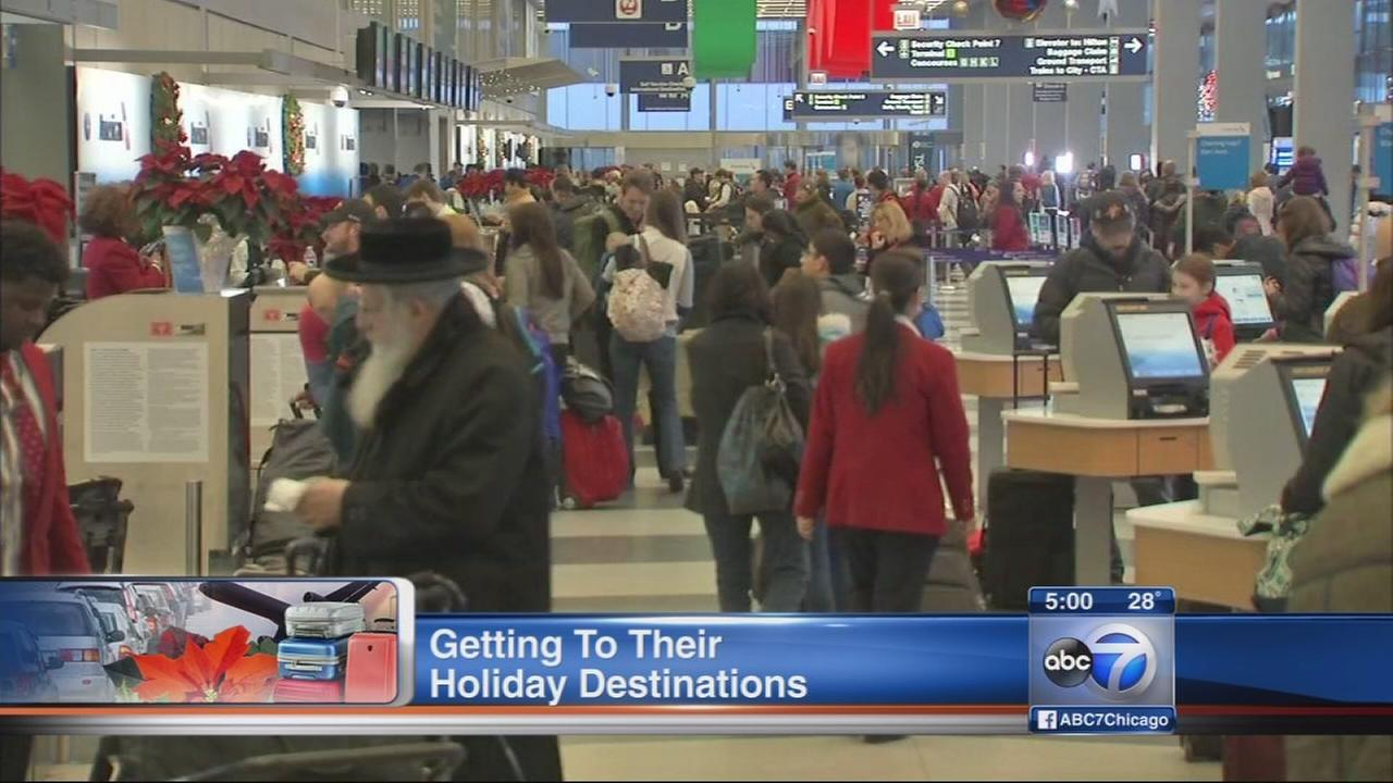Nearly 2M holiday travelers to pass through Chicago airports