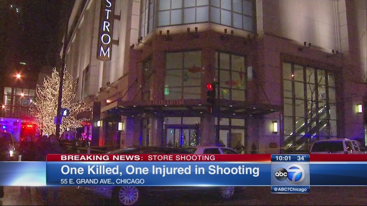 2 shot inside Nordstrom store in Chicago
