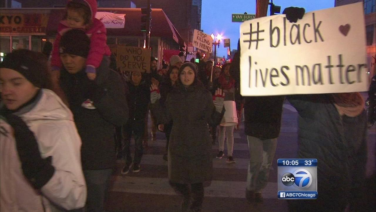 Marches, protests continue in Chicago Sunday