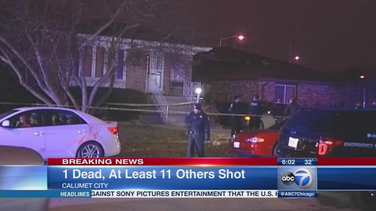 1 killed, 11 wounded in Calumet City house party shooting
