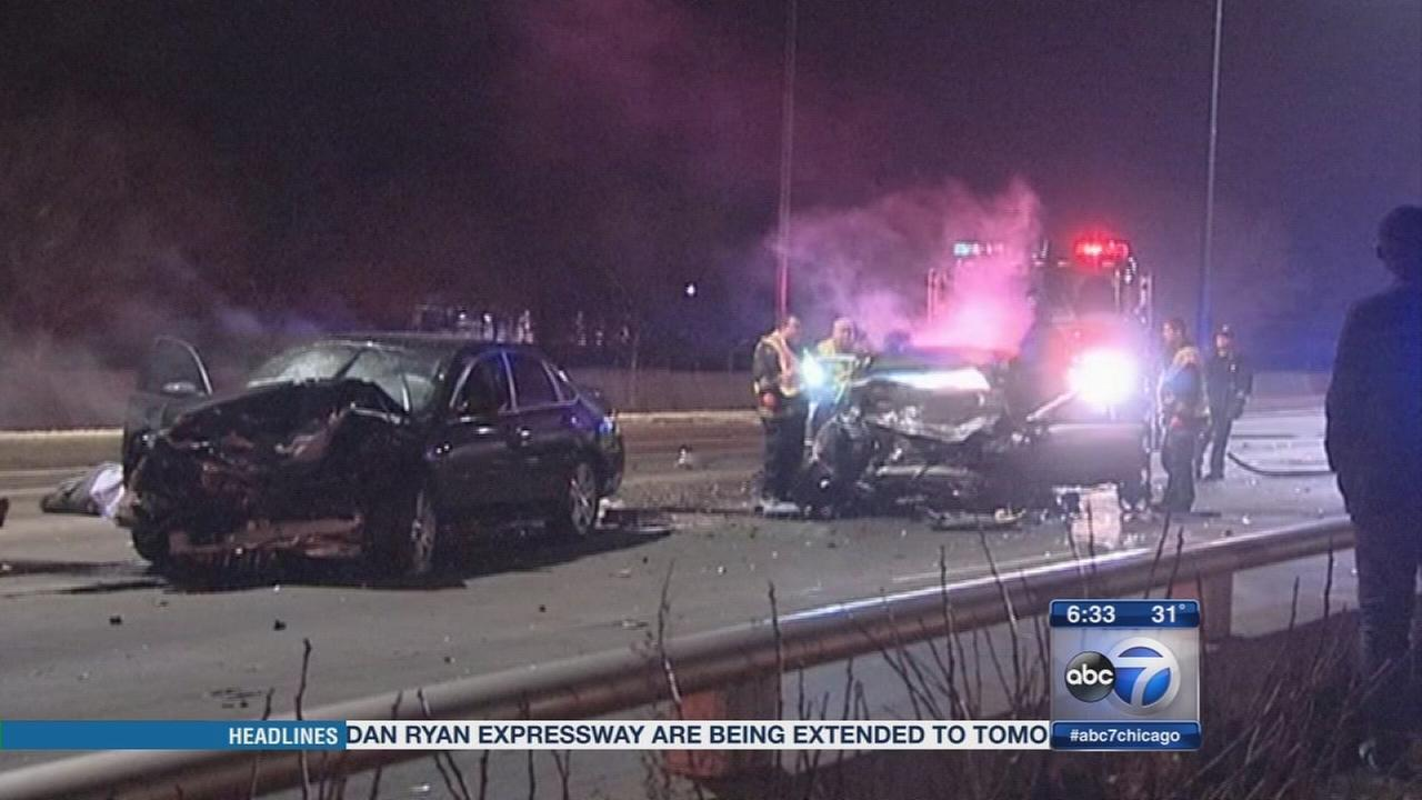 1 dead, 6 hurt in wrong way crash on Lake Shore Drive