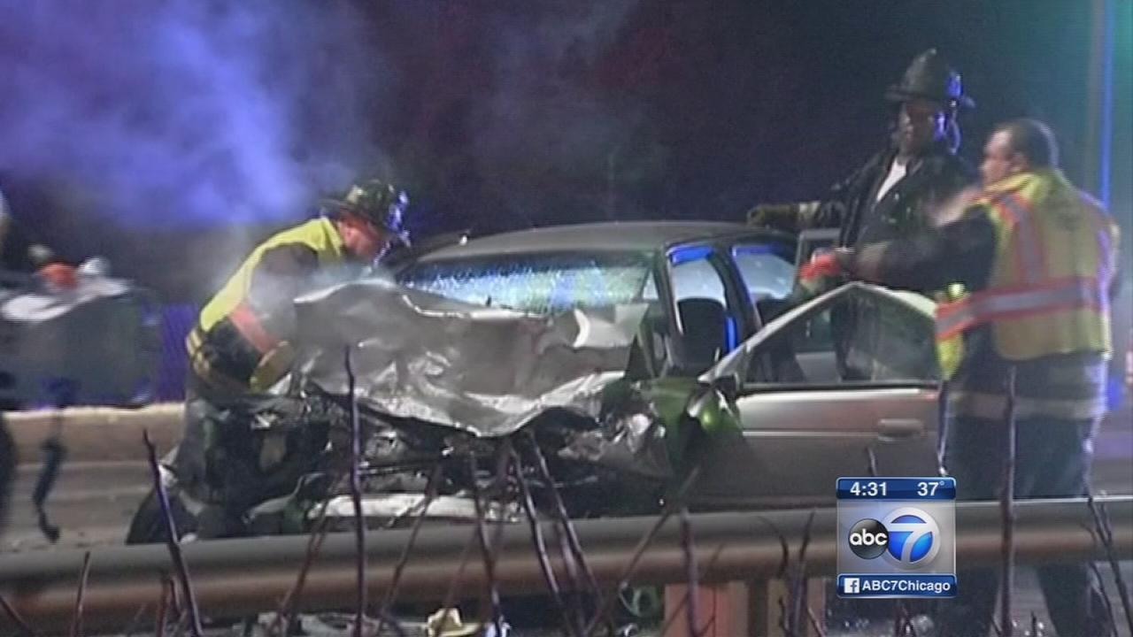 1 dead, 6 injured in wrong-way crash