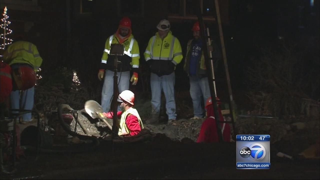 West Rogers Park gas main damaged, 200 homes without service