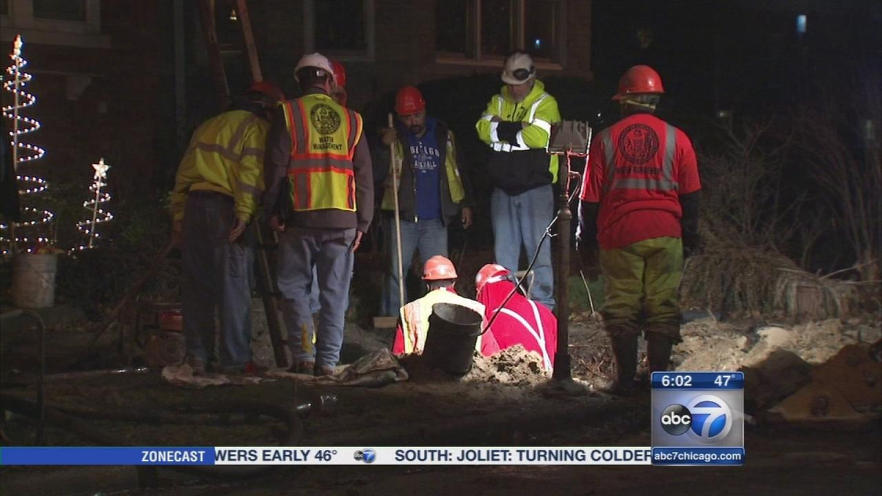 West Rogers Park gas main damaged
