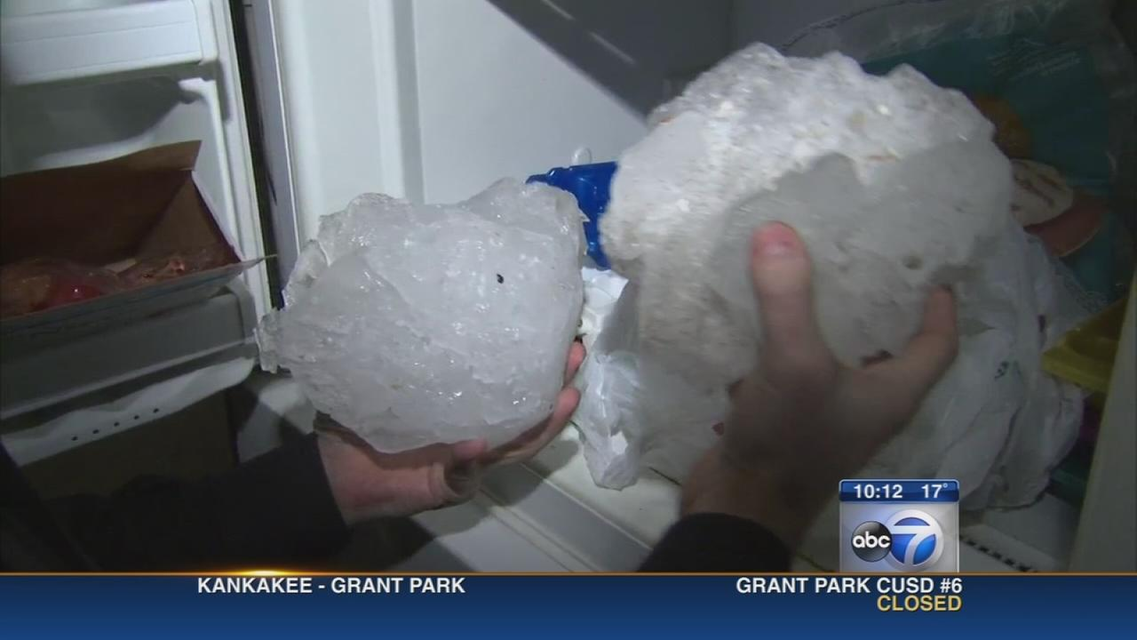 Mysterious ice chunks crash through Chicago mans roof