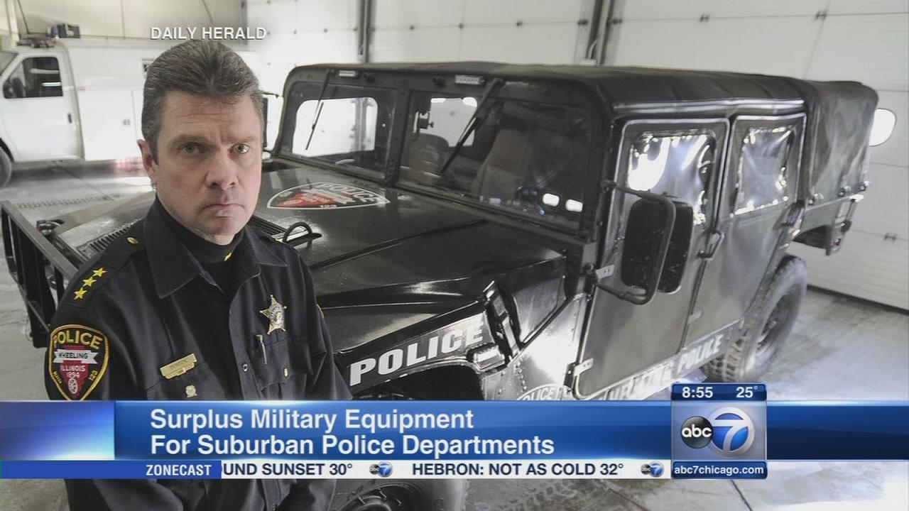Suburban police receive $66 million in military equipment