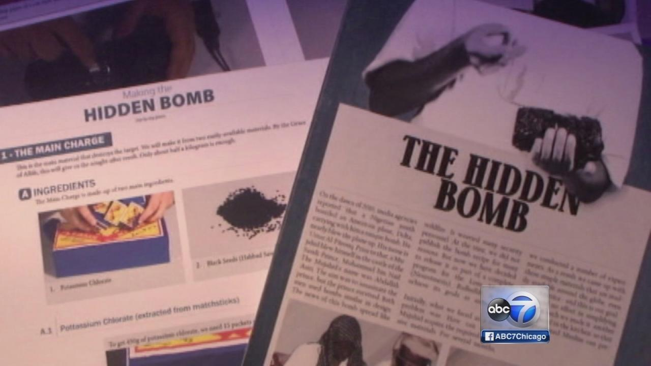 US airports on alert after hidden bomb post