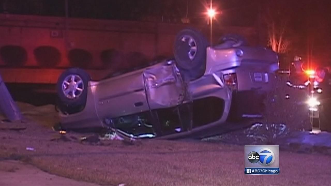 Man in custody in chase, crash