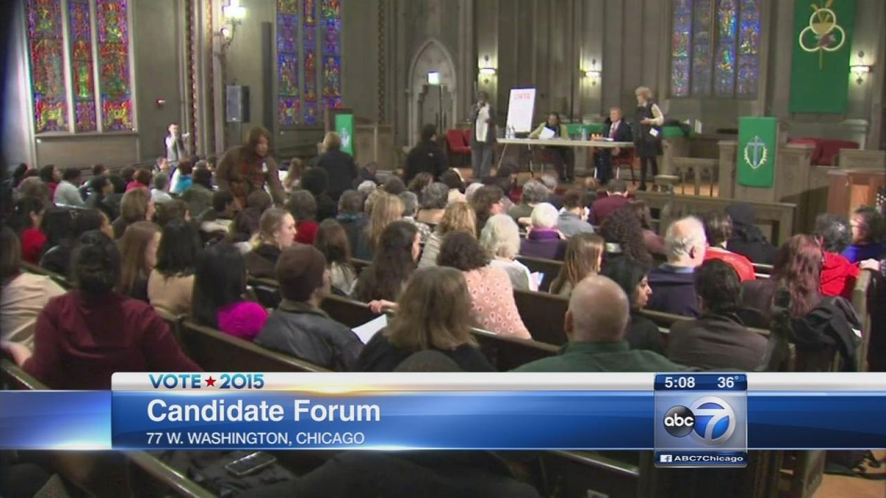 Mayoral candidates appear at forum