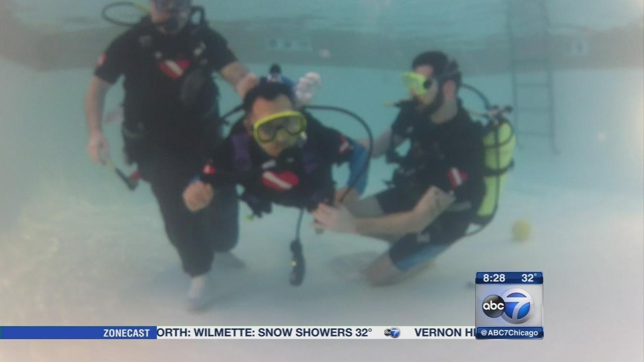 Scuba diving used to help trauma victims