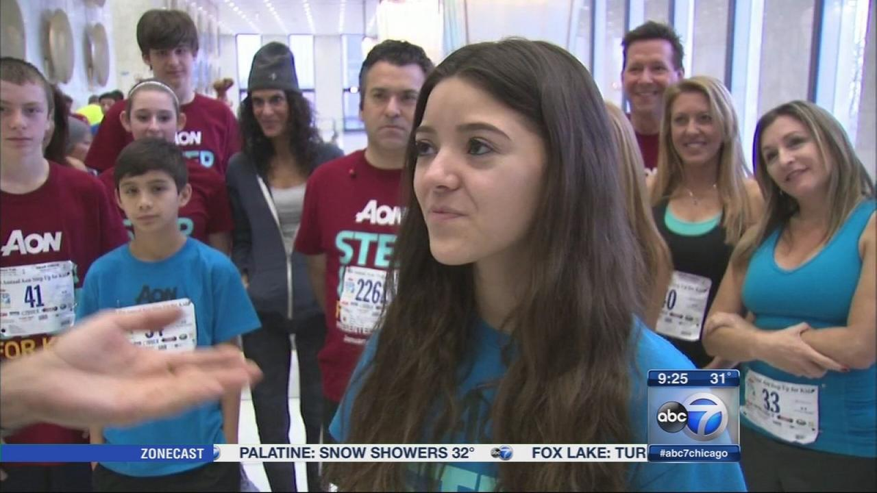 Aon Center hosts annual Step Up for Kids stair climb