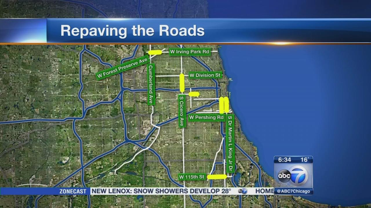 City to repave several major streets in Chicago