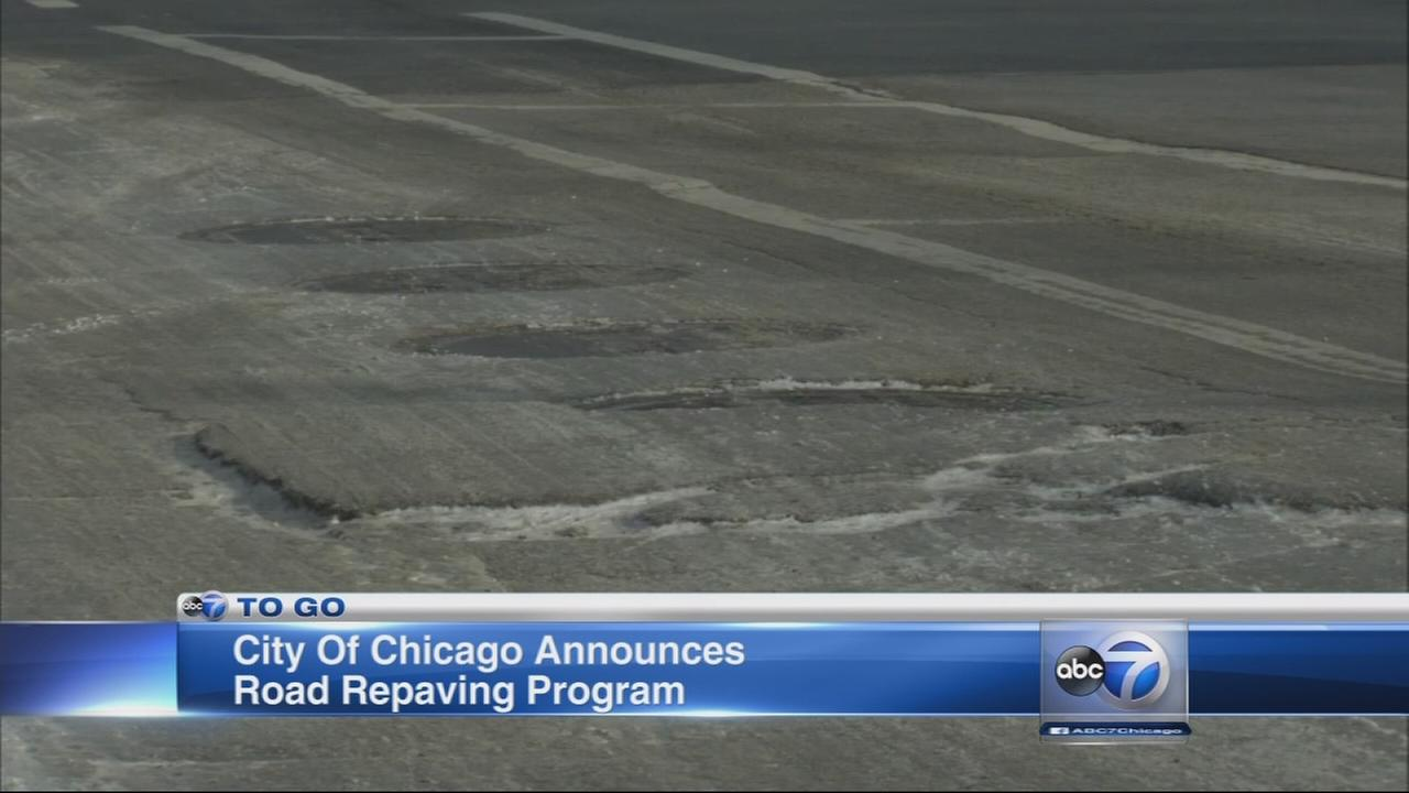 City to repave several major roadways in Chicago